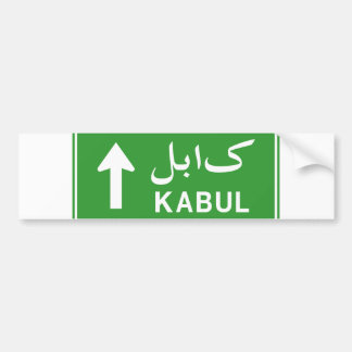 Kabul, Afghanistan Highway Traffic Street Sign Bumper Sticker