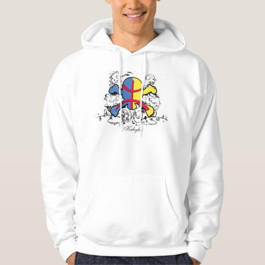 Kabylia flag Skull & Crossbones -Shirt Hoodie