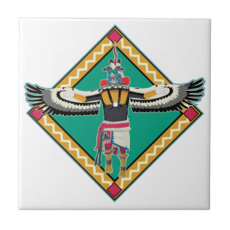 Kachina Dancer Small Square Tile
