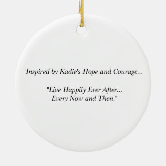 Kadie's Hope & Courage Ceramic Heart Ornament