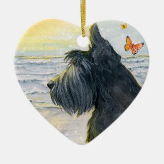 Kadie's Hope & Courage Ceramic Heart Ornament
