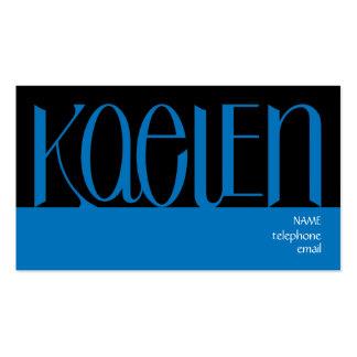 Kaelen blue Profile Card Business Card Templates