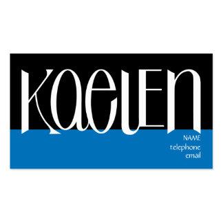 Kaelen white Profile Card Business Card Template