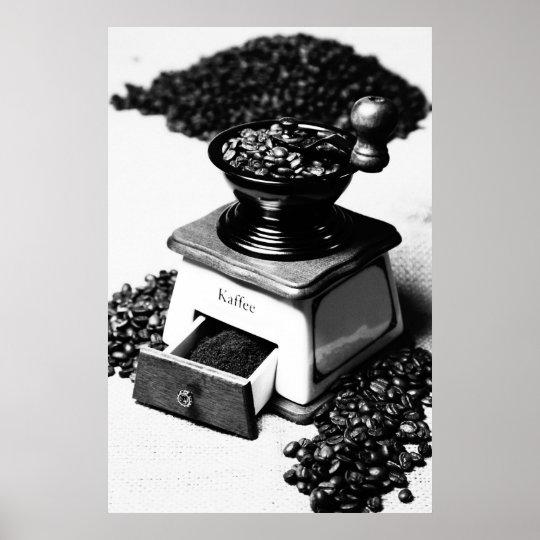 Kaffeemühle black Weis kitchen picture Poster