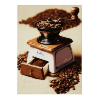 Kaffeemühle kitchen picture poster