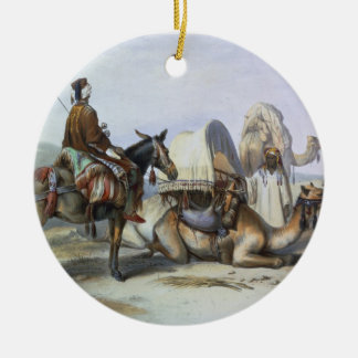 Kafila with a Camel Bearing a Hodesh, illustration Christmas Ornament
