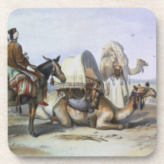 Kafila with a Camel Bearing a Hodesh, illustration Coaster