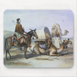 Kafila with a Camel Bearing a Hodesh, illustration Mouse Mat