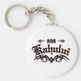 Kahului 808 basic round button key ring