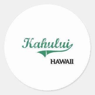 Kahului Hawaii City Classic Stickers