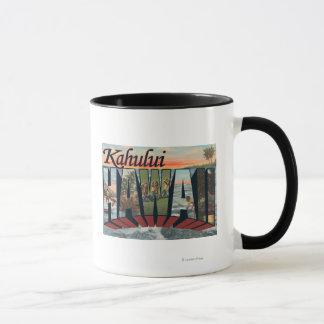 Kahului, Hawaii - Large Letter Scenes Mug