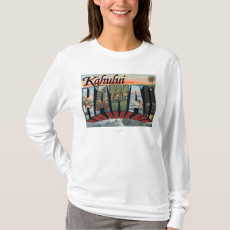 Kahului, Hawaii - Large Letter Scenes T-Shirt