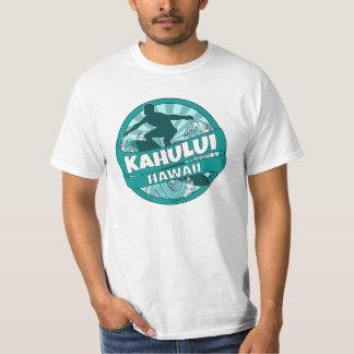 Kahului Hawaii teal surfer logo shirt