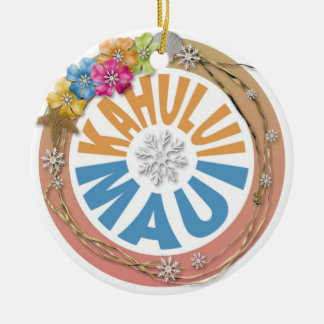 Kahului Maui Hawaii hibiscus holiday ornament