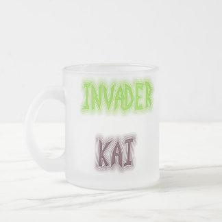 kai, invader frosted glass mug