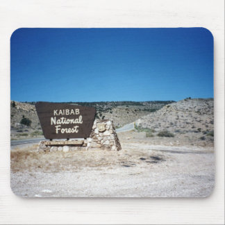 Kaibab National Forest Sign Mouse Pad
