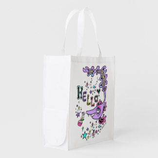 kaijiyuu hello korabo of fish* reusable grocery bag