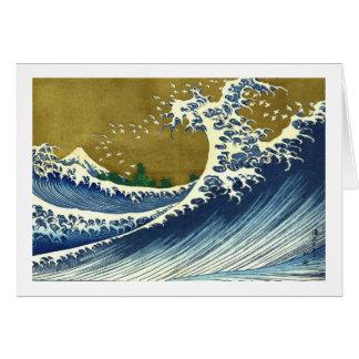 Kaijo no Fuji Hokusai wave Kanagawa masterpiece Card