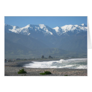 Kaikoura, New Zealand Pacific Ocean Greeting Card