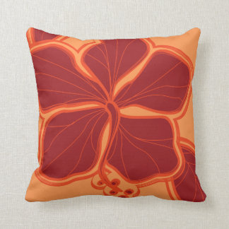 Kailua Hibiscus Hawaiian Reversible Square Pillow