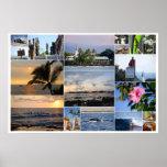 Kailua-Kona Hawaii Collage 36 x 24 Poster