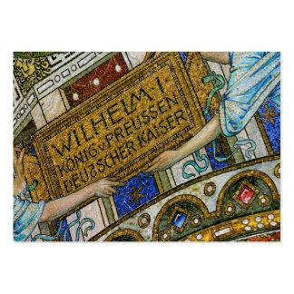 Kaiser Wilhelm Church, Berlin, Plague, Mosaic Tile Pack Of Chubby Business Cards