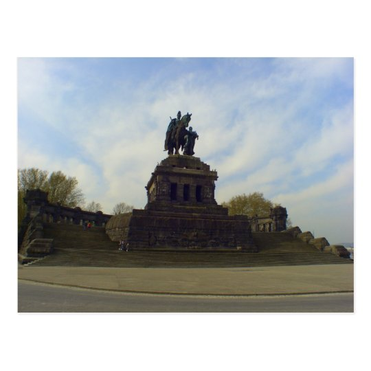Kaiser Wilhelm, Deutsches Eck, Koblenz, Germany Postcard