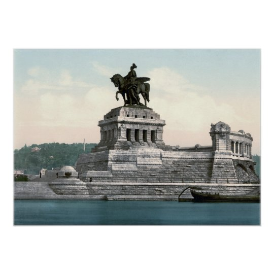 Kaiser Wilhelm I Statue Poster