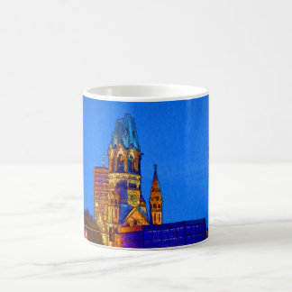 Kaiser Wilhelm Memorial Church, Berlin, Illu Basic White Mug