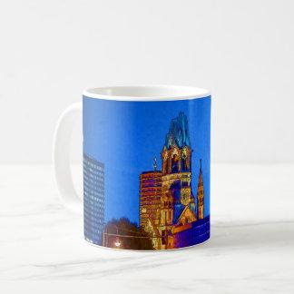 Kaiser Wilhelm Memorial Church, Berlin, Illu Coffee Mug