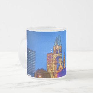Kaiser Wilhelm Memorial Church, Berlin, Illu Frosted Glass Coffee Mug