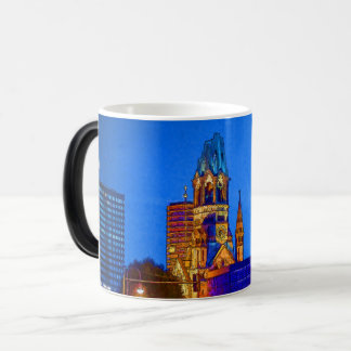Kaiser Wilhelm Memorial Church, Berlin, Illu Magic Mug