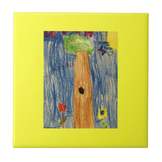 Kaitlyn Art1583a1 Tree The MUSEUM Zazzle Gifts Small Square Tile