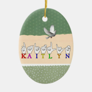 KAITLYN ASL FINGERSPELLED SIGN NAME SIGN CHRISTMAS ORNAMENT