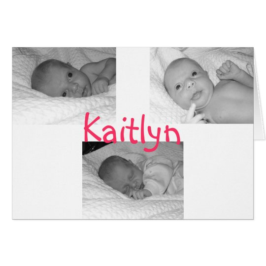 kaitlyn birth announce card