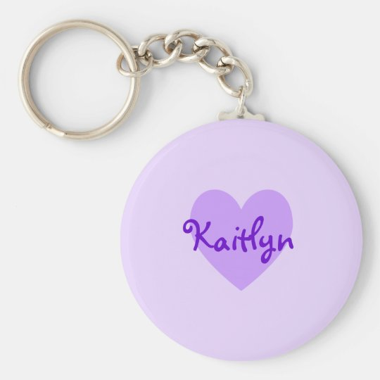 Kaitlyn in Purple Basic Round Button Key Ring