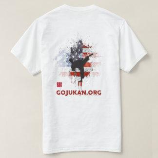 Kaizen Gojukan Grunge Flag Kicker [White] T-Shirt