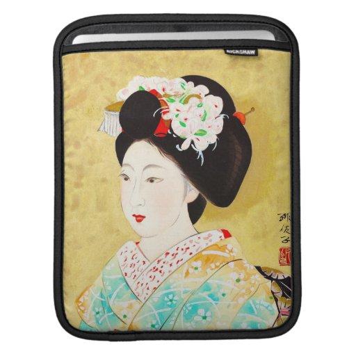 Kajiwara Hisako A Kyoto Maiko geisha fine art Sleeves For iPads