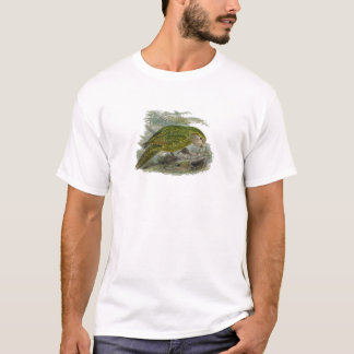 Kakapo Green Parrot Vintage Illustration T-Shirt