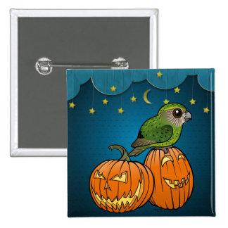 Kakapo Halloween 15 Cm Square Badge