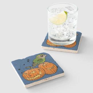 Kakapo Halloween Stone Beverage Coaster