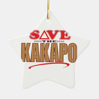 Kakapo Save Christmas Ornament
