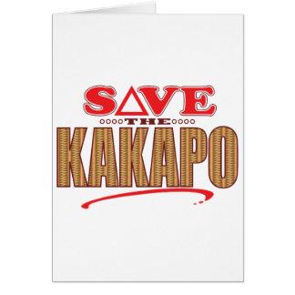 Kakapo Save Greeting Card