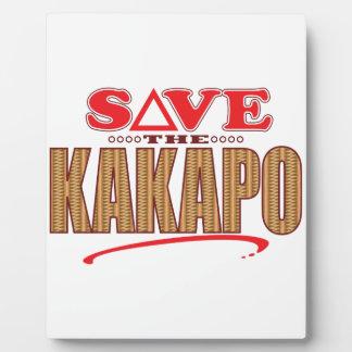 Kakapo Save Plaque