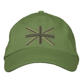 Kaki Union Jack Flag England Swag Embroidery Embroidered Cap