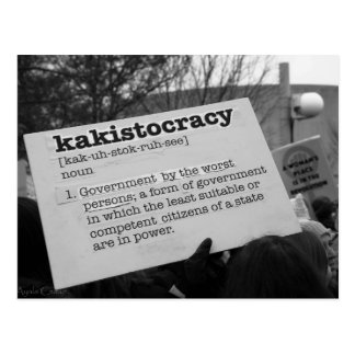 Kakistocracy Postcard