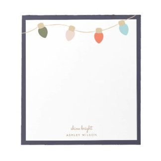 Kaktovik String Lights Notepad