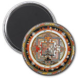 Kalachakra Mandala 6 Cm Round Magnet
