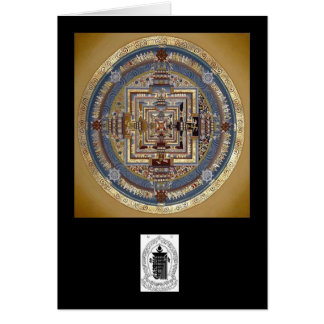 Kalachakra Mandala B Greeting Card