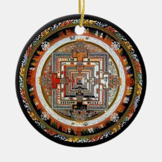Kalachakra Mandala Round Ceramic Decoration